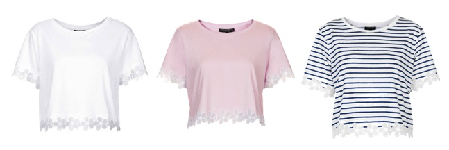 TOP SHOP ORGANZA TEE