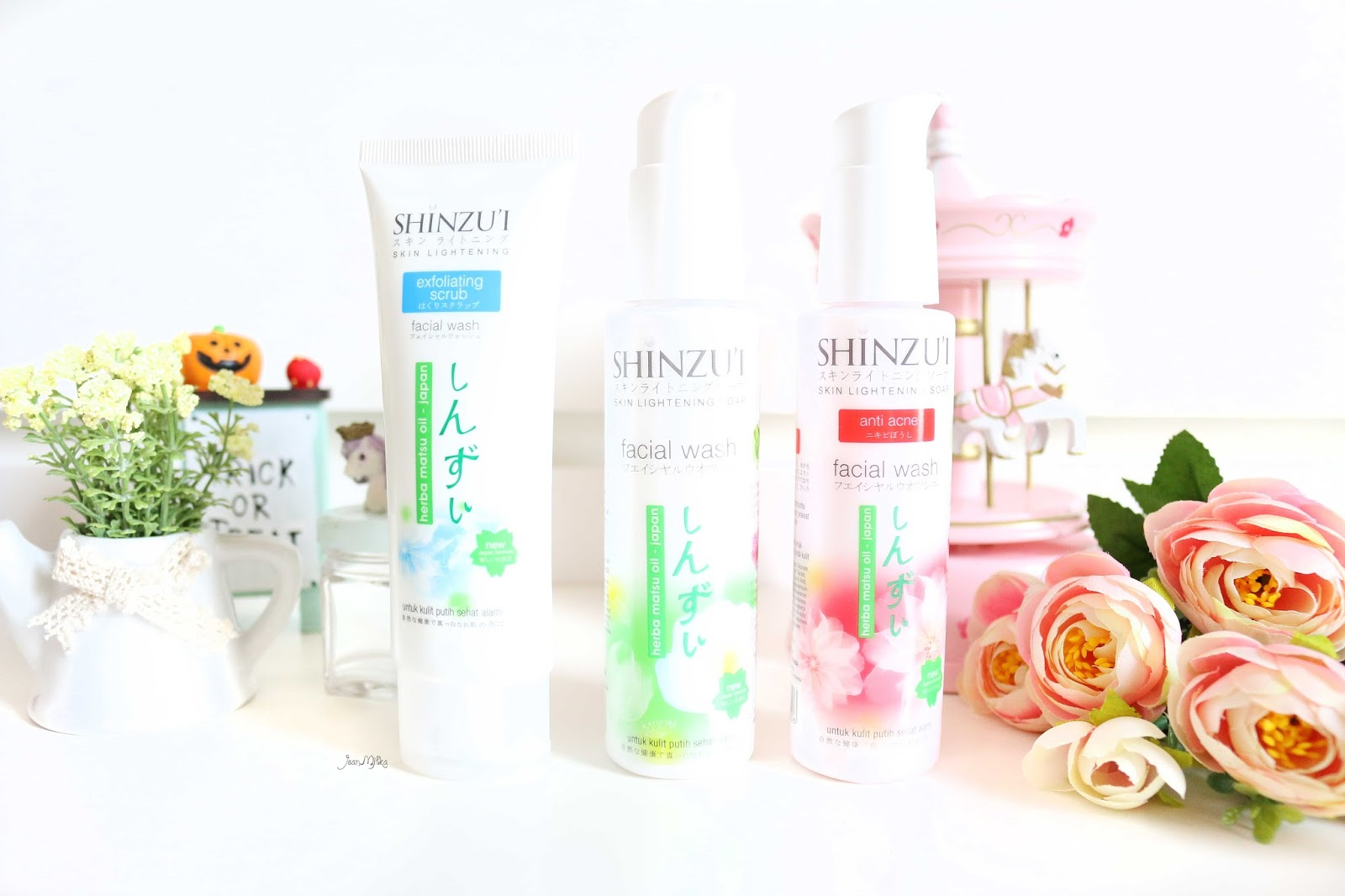 shinzui, putih itu shinzui, skin care, review shinzui, shinzui lightening series, shinzui scrub, shinzui facial wash, perawatan wajah