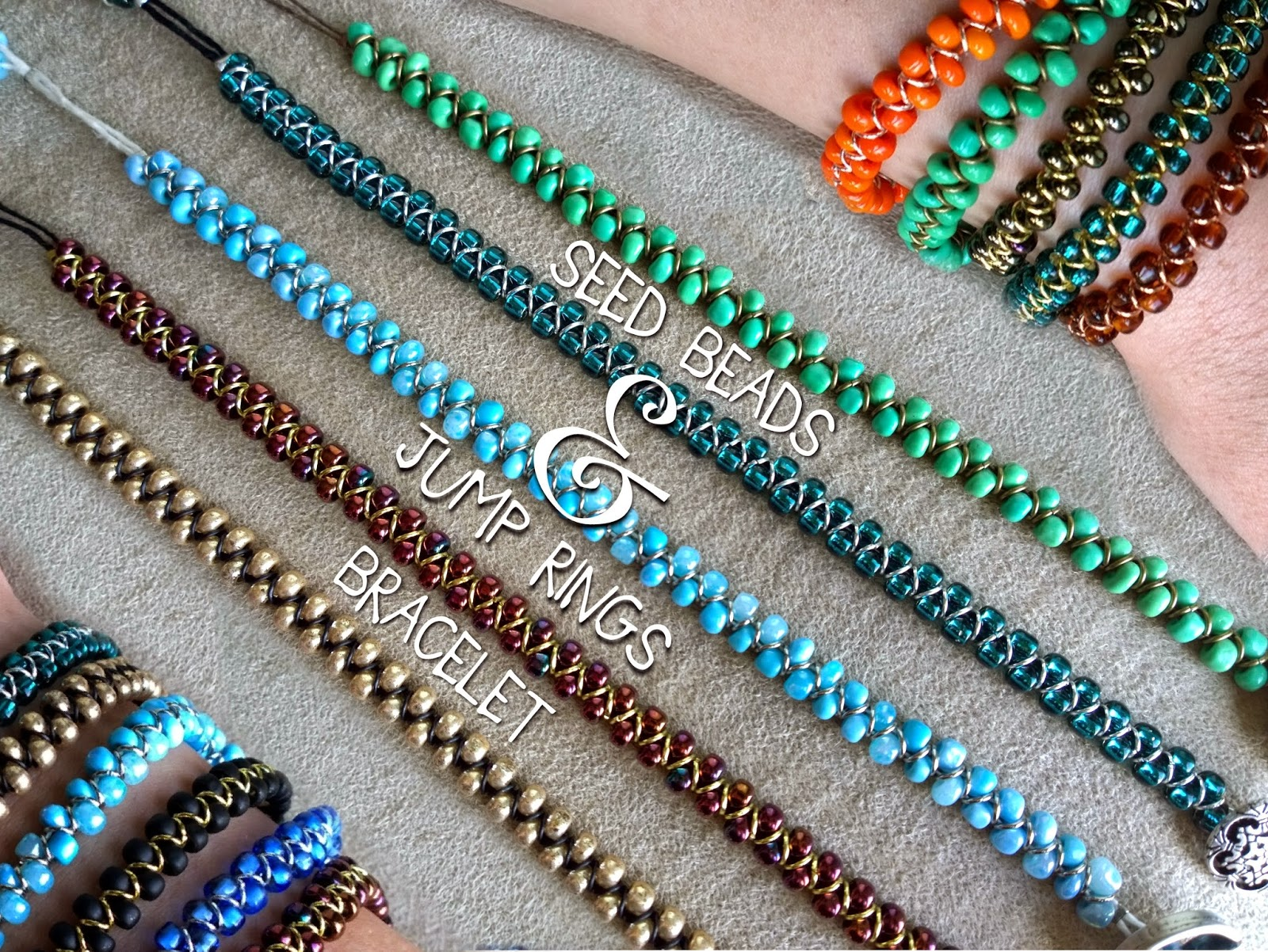 ..non*sense..: seed beads and jump rings bracelet