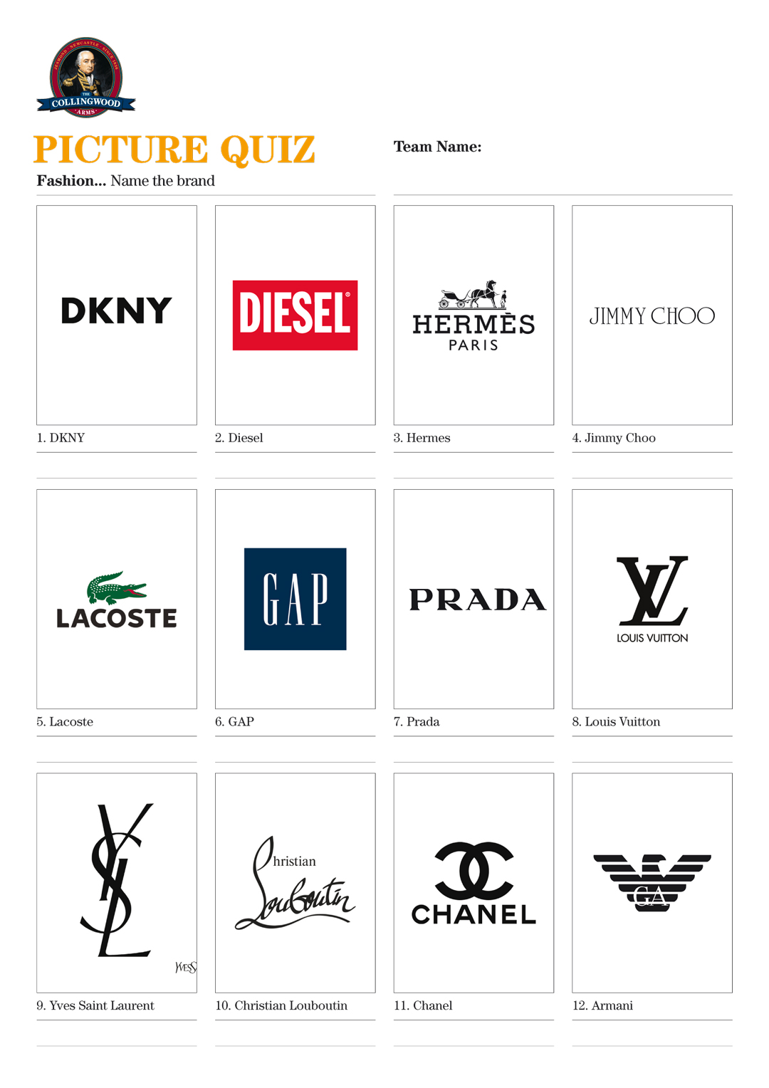Logo Quiz Fashion Answers