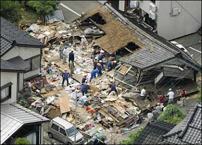 Tsunami in Japan after Earth quake