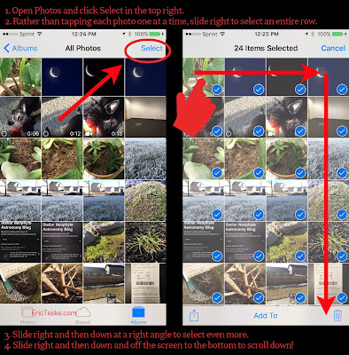 how to delete all iphone photos or lots at the same time