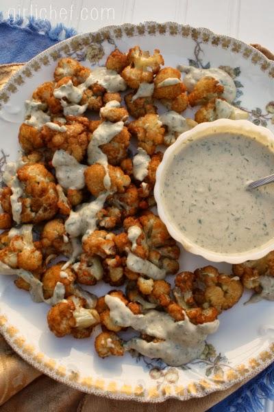 Fried Cauliflower w/ Sesame Parsley Sauce