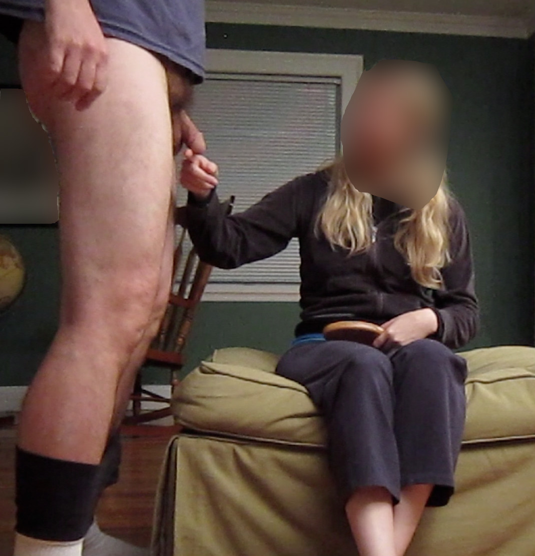 Woman spank husband