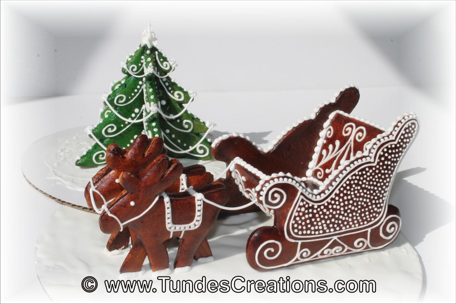 The Gingerbread Artist 3d Winter Scene Santa S Sleigh