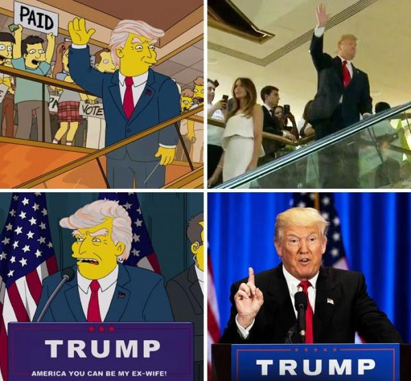 The Simpsons dan Donald Trump