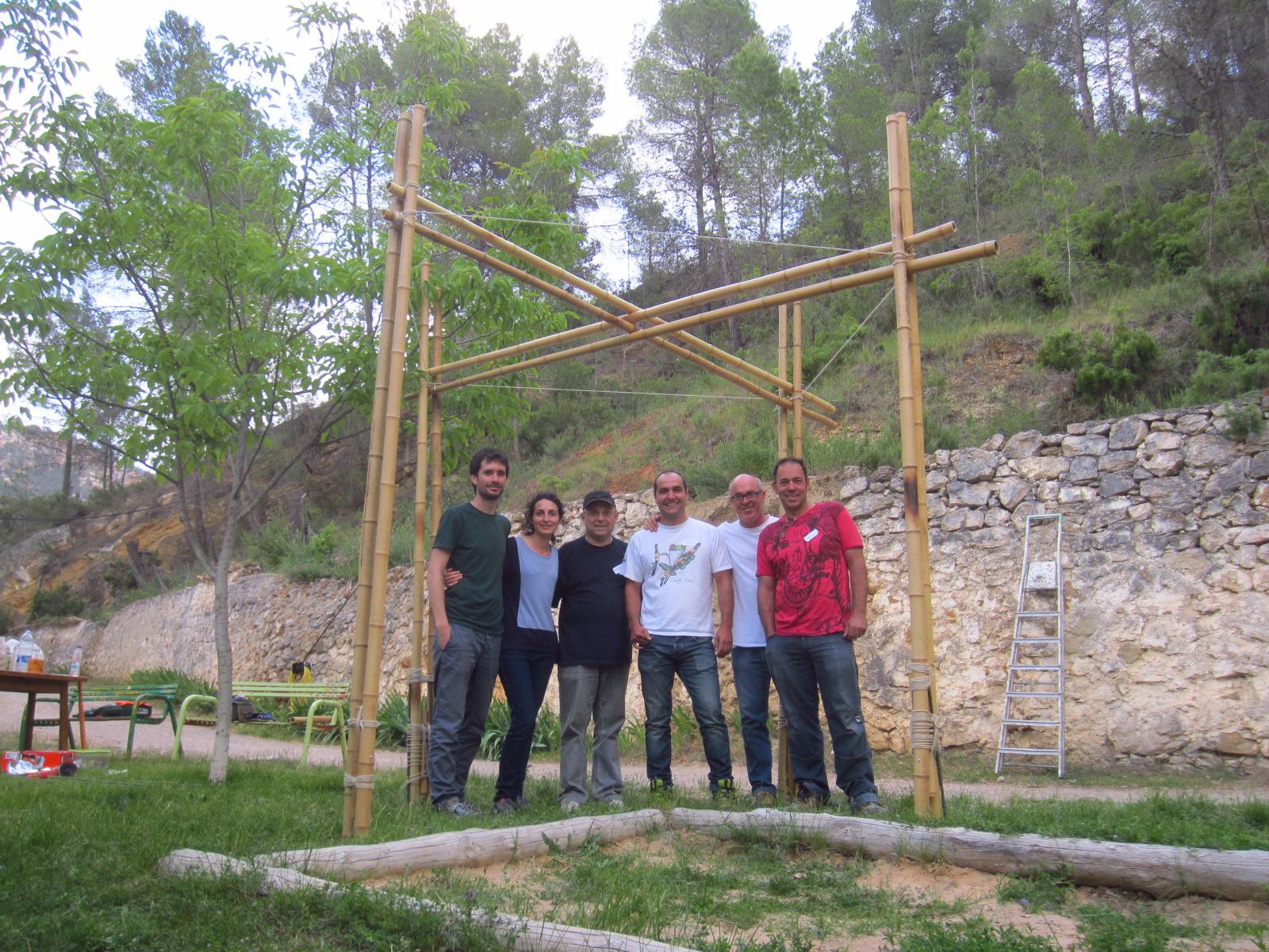 Va de fibras p rgola de bamb moso en minglanilla - Pergola bambu ...