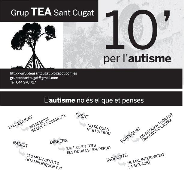 """""""10' x l'Autisme"""" - Flyer de la campanya"""