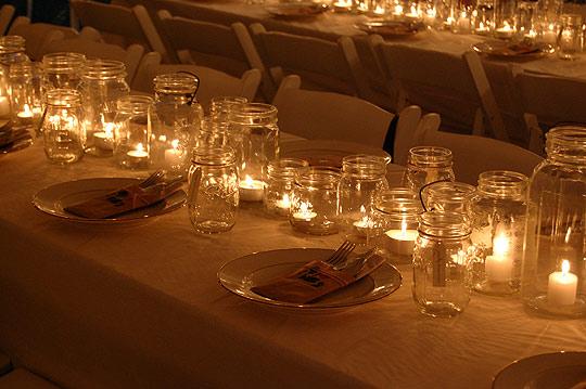 My sweet june glass jar wedding decor