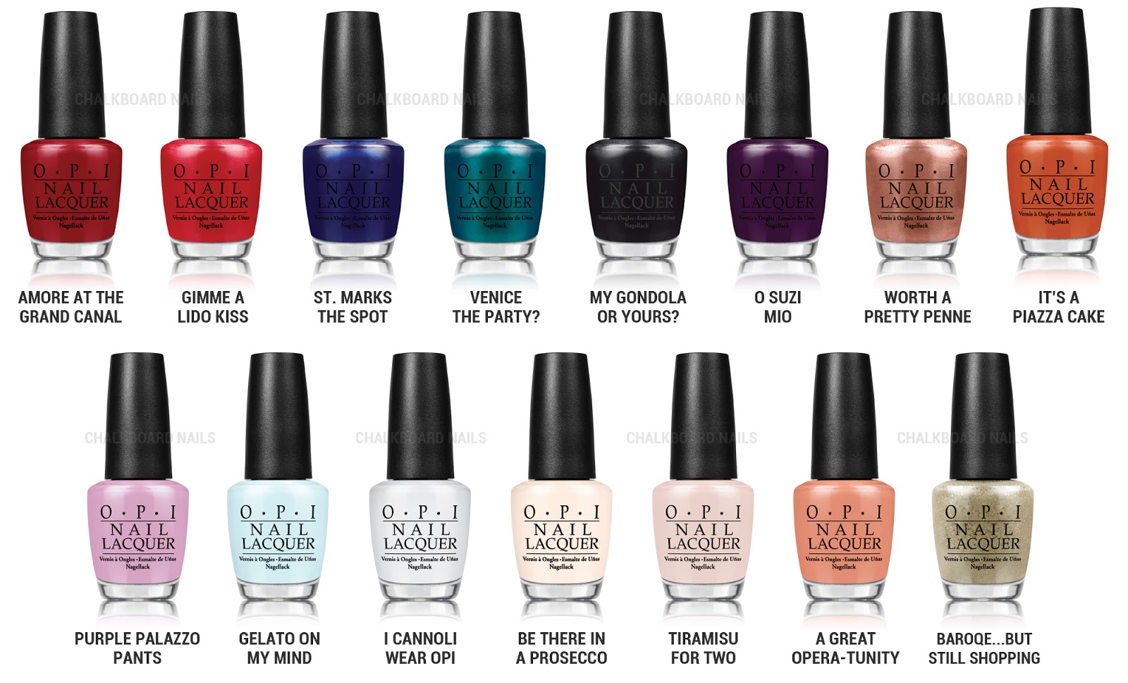OPI Venice Collection via @chalkboardnails
