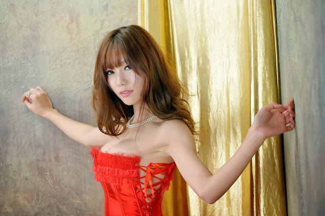 3 Hot red Han Min Young - very cute asian girl-girlcute4u.blogspot.com