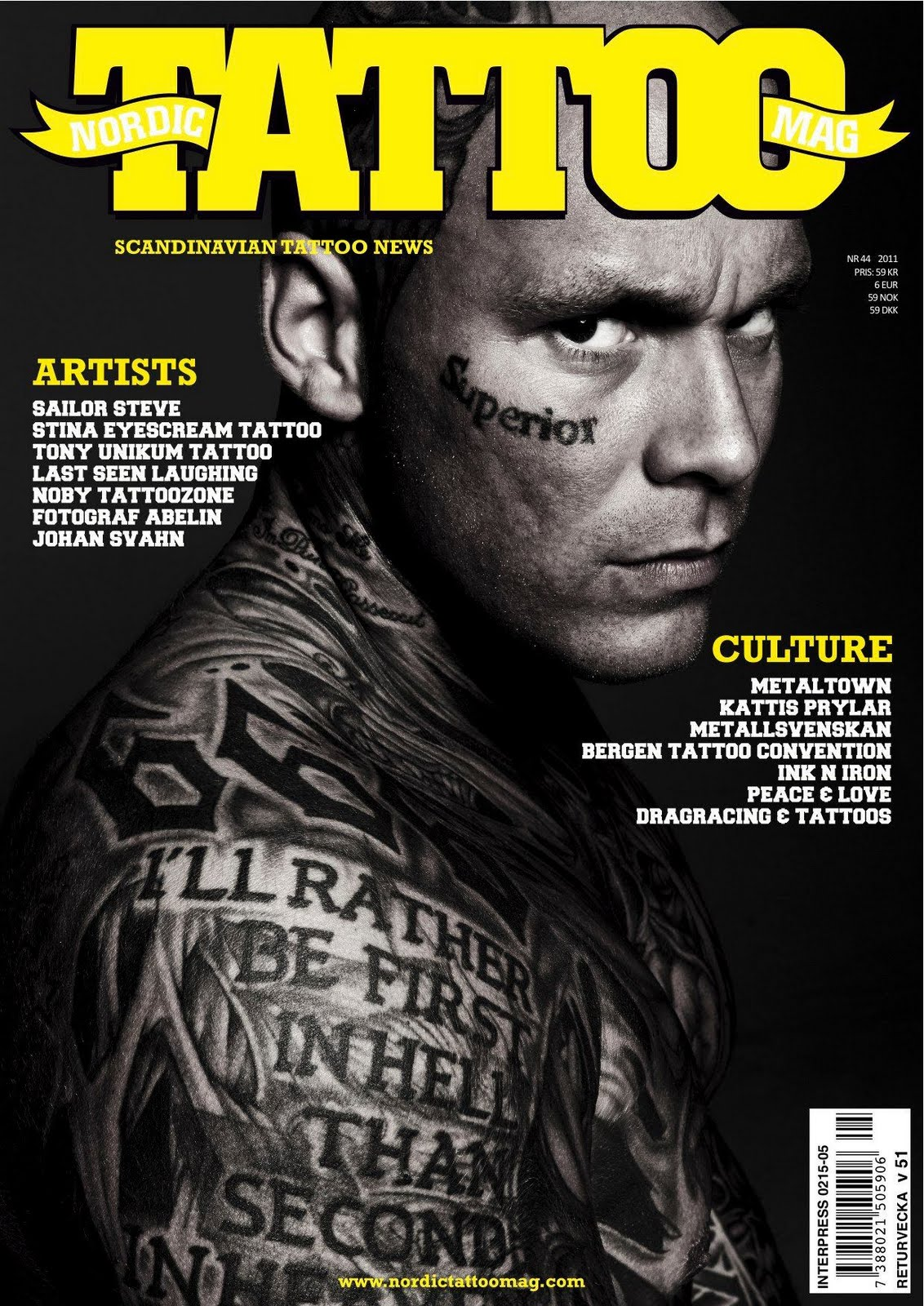 - NORDIC TATTOO MAG - NYTT NUMMER UTE NU!!