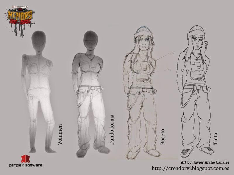 Quiero ser creador de videojuegos: Dibujando personajes para videojuegos