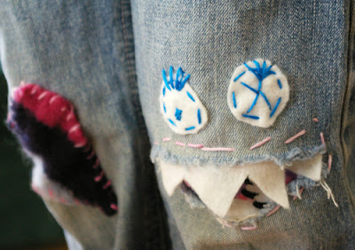 monster mending :: super fun knee patches, sewing patterns