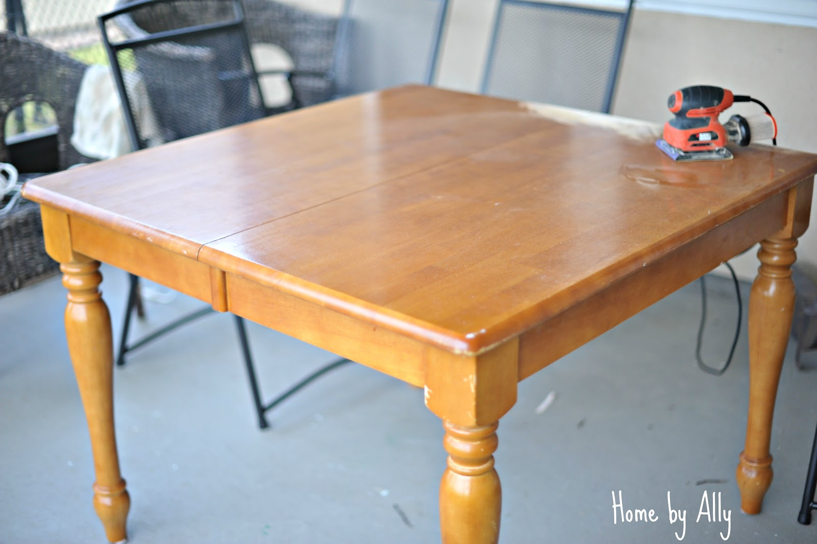 Kitchen table redo home by ally - Kitchen table redo ...