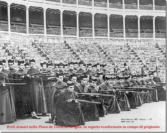 Preti armati durante la guerra civile spagnola. durante quel tragico