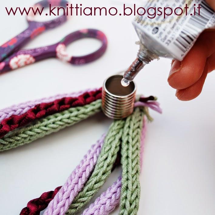 Hand made collana in cotone