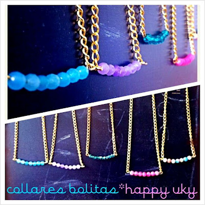 Happy Uky Collar bolitas colores