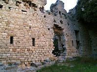 Interior del mur de tramuntana del Castell de Fitor o d'Esparreguera