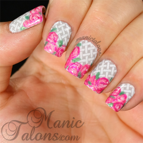 Messy Mansion Easter Plate, MM36, Rose manicure