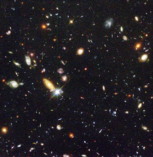 1,500 galaxies deep in the universe as shown by the Hubble telescope