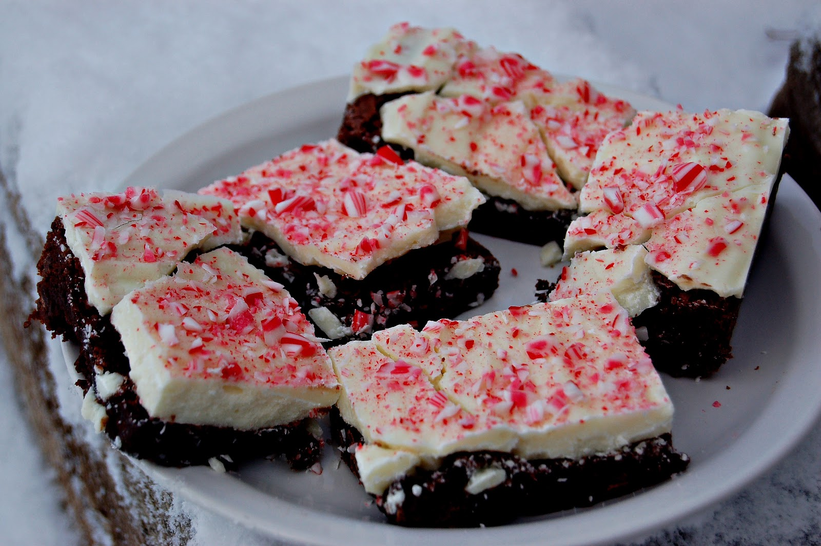 Peppermint Bark Brownies Recipes — Dishmaps
