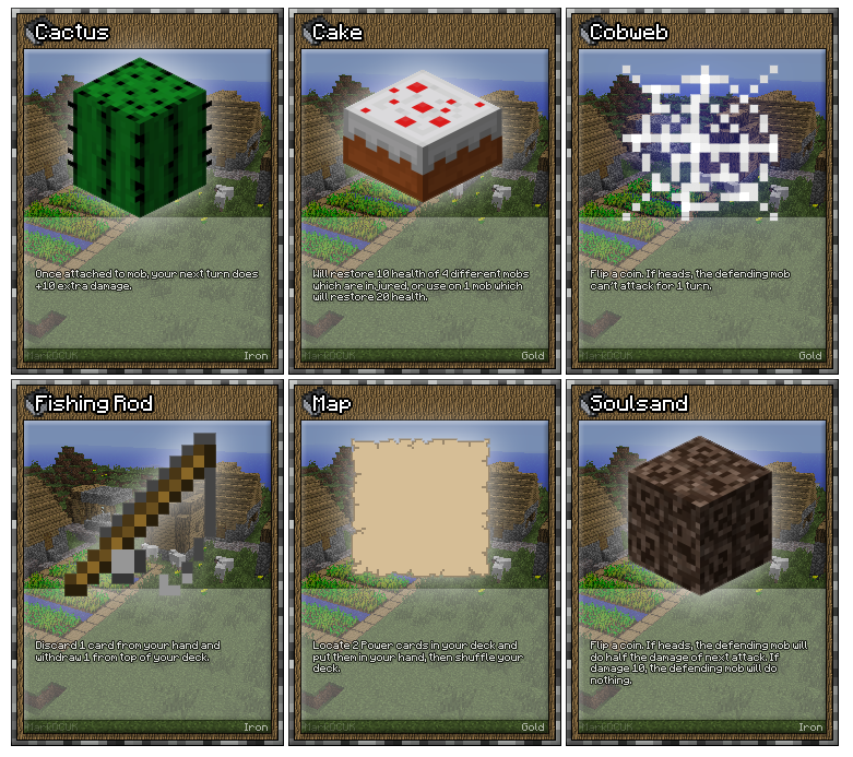 Trading Cards Minecraft