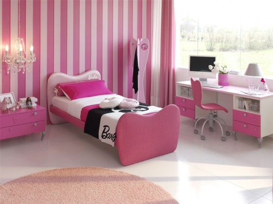 Pink color bedrooms ideas for girls 15 picture gallery for Bedroom designs pink and black