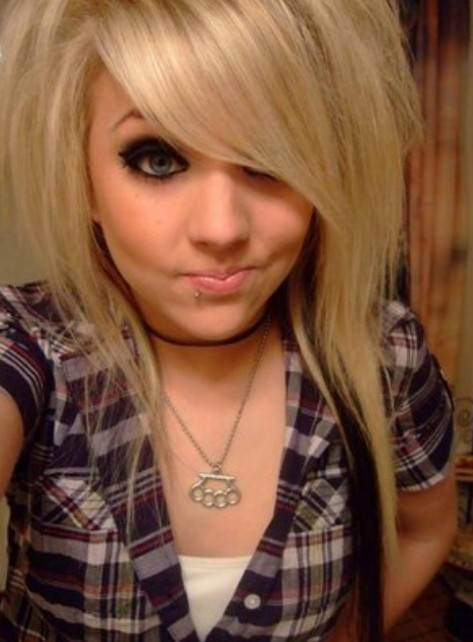 The beauty of the long emo hairstyle blondelacquer long emo hairstyle is also very popular with the straight hair cut although before it used to be most popular with people having curls and with bangs solutioingenieria Images