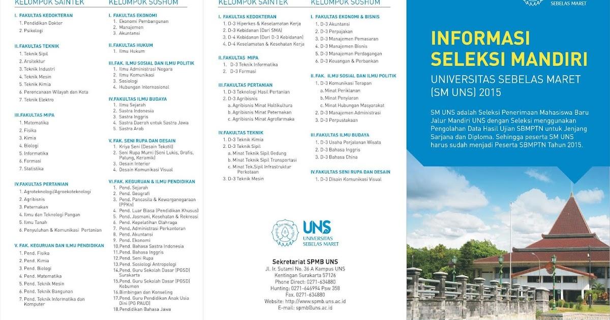 Informasi Seleksi Mandiri Universitas Sebelas Maret 2015