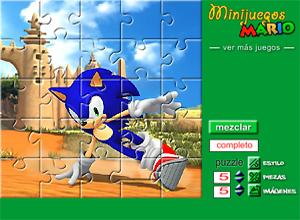 diez puzzles de Sonic