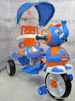 1 Sepeda Roda Tiga Wimcycle Elephant dengan Musik dan Kanopi