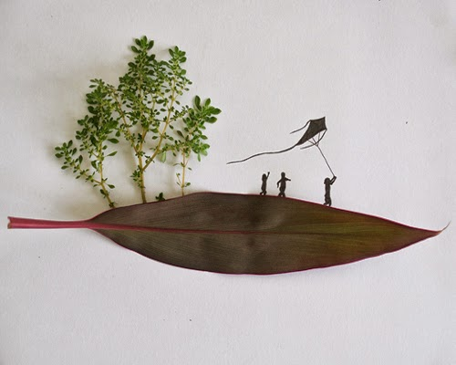 08-Wonderful-Childhood-Freelance-Illustrator-Tang-Chiew-Ling-Art-with-Leaves-www-designstack-co