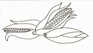 desenho de milho para pintar