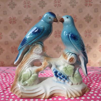 birds, vintage, thrifted