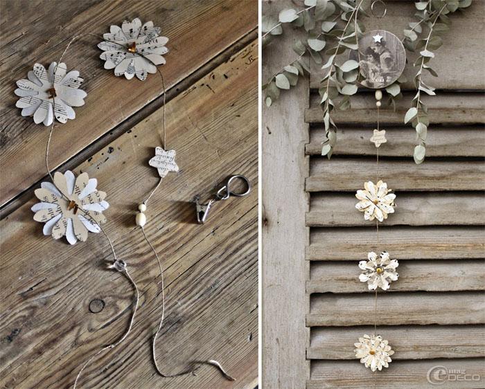 como hacer guirnalda de papel de diario -manualidades- decoracion