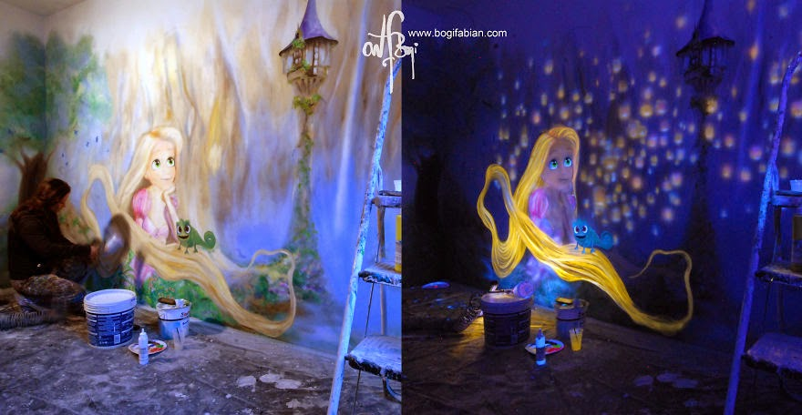Be mindful of your self-talk. It´s a conversation with the universe… - When The Lights Go Out, My Glowing Murals Turn These Rooms Into Dreamy Worlds
