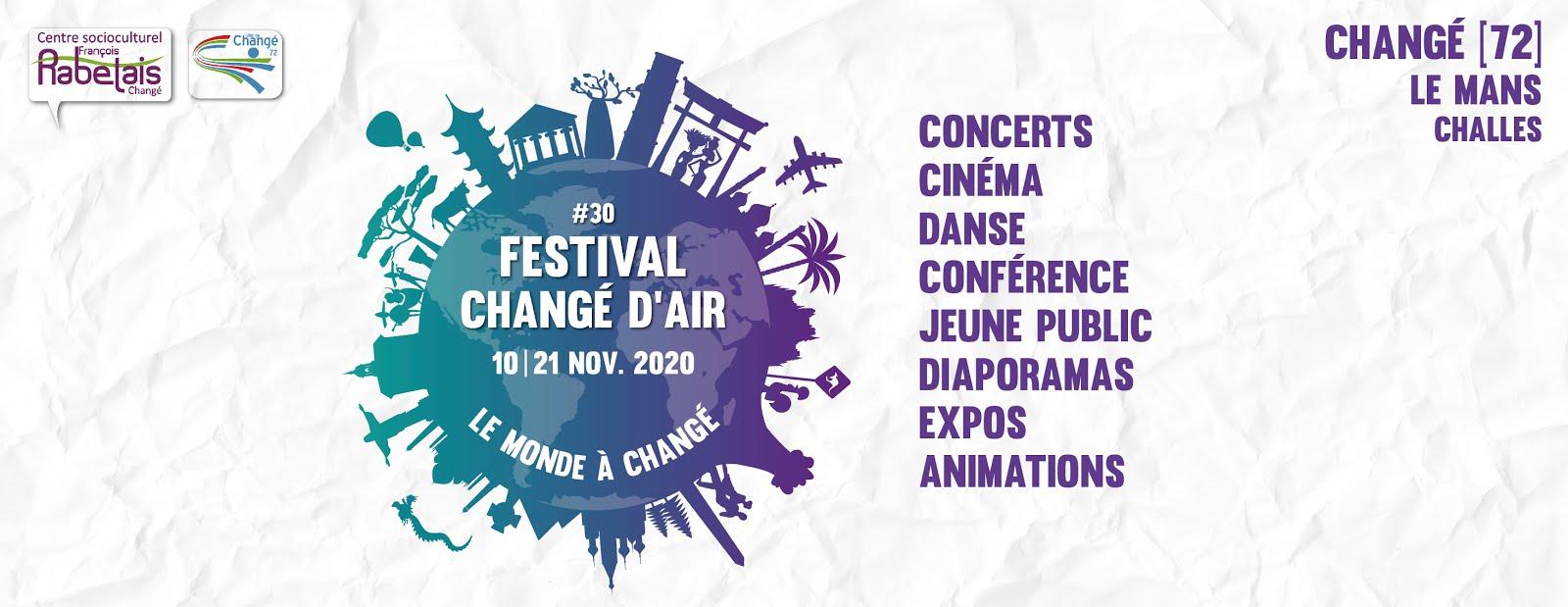 30e Festival Changé d'Air : Le monde à Changé