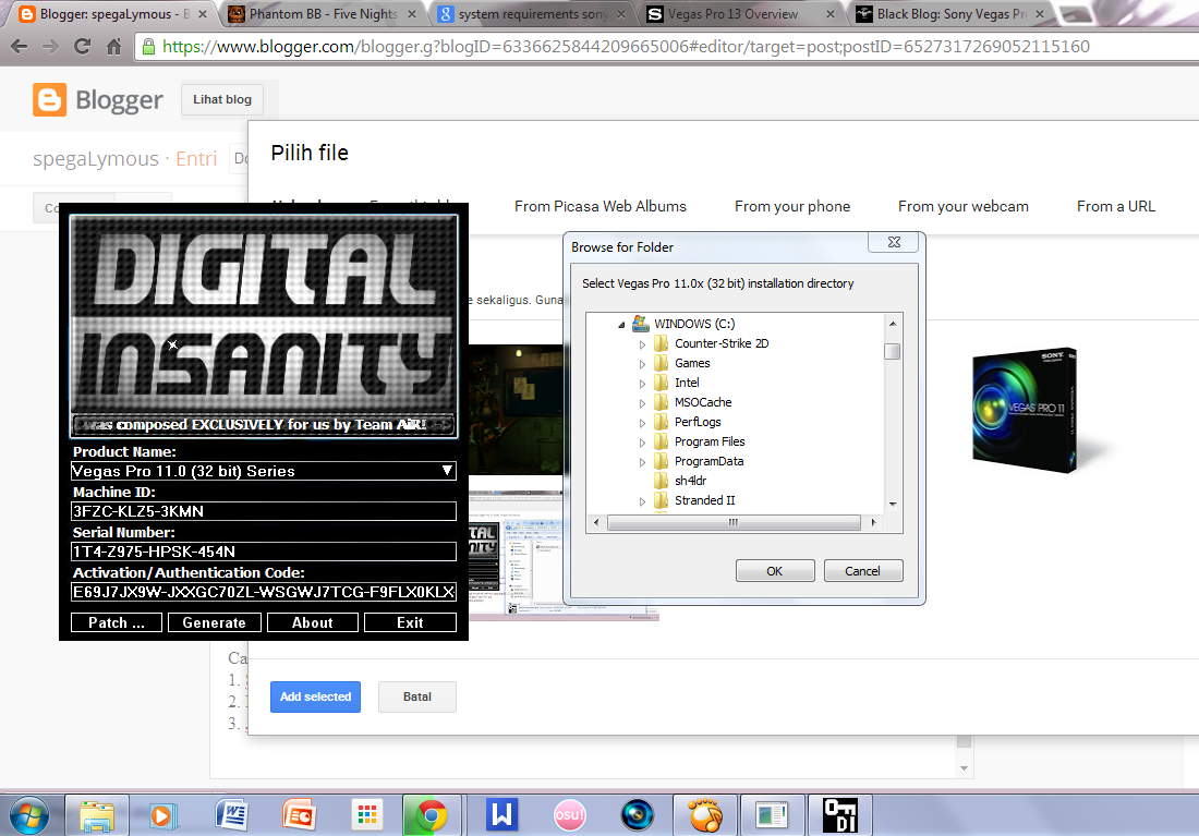 sony vegas 9.0 keygen download