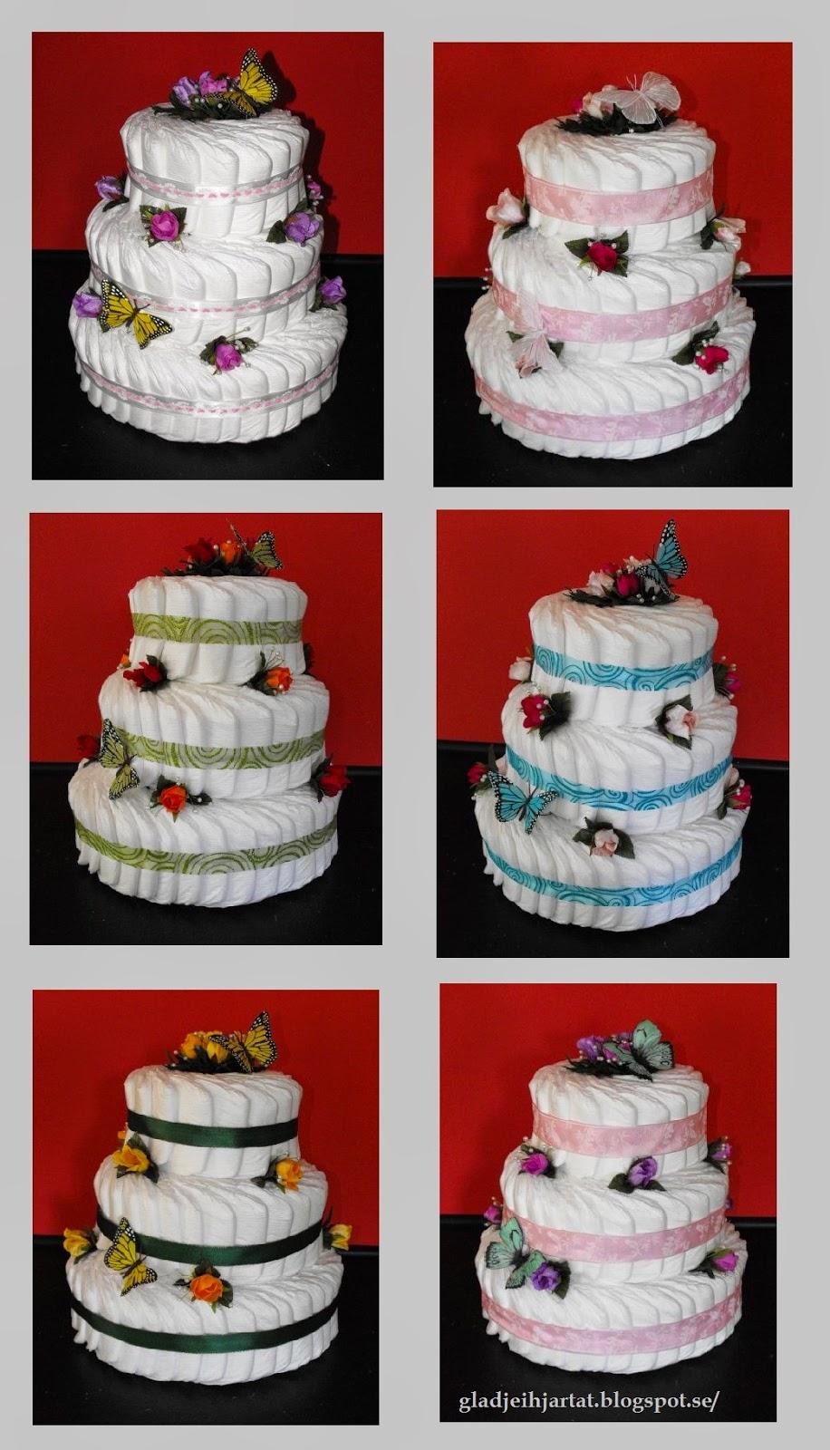 diapercake, dipercake, blöjtårta, blöjor, tårta, babyshower