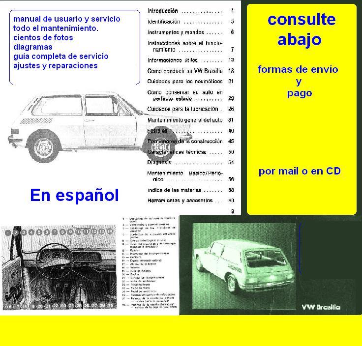 Manuales de mecánica y taller: Antigua Vw Brasilia Manual ...