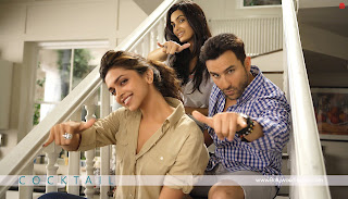 Cocktail HD WideScreen Wallpaper Saif Ali Khan, Deepika Padukone and Diana Penty