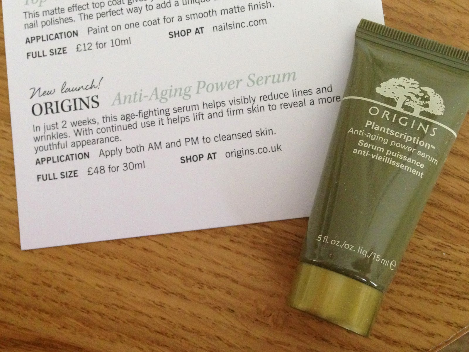 origins anti aging power serum