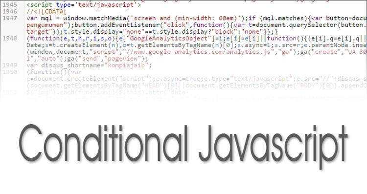 Cara Menggunakan Conditional Javascript