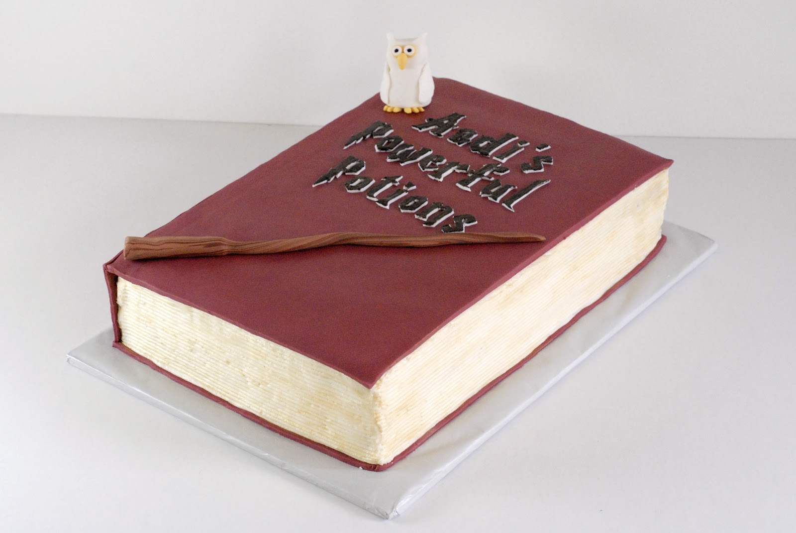 How To Make A Harry Potter Spell Book Cake