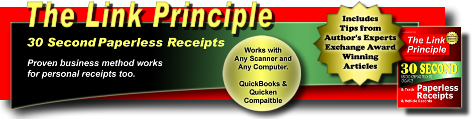 The Link Principle: 30 Second Paperless Receipts Using Any Scanner