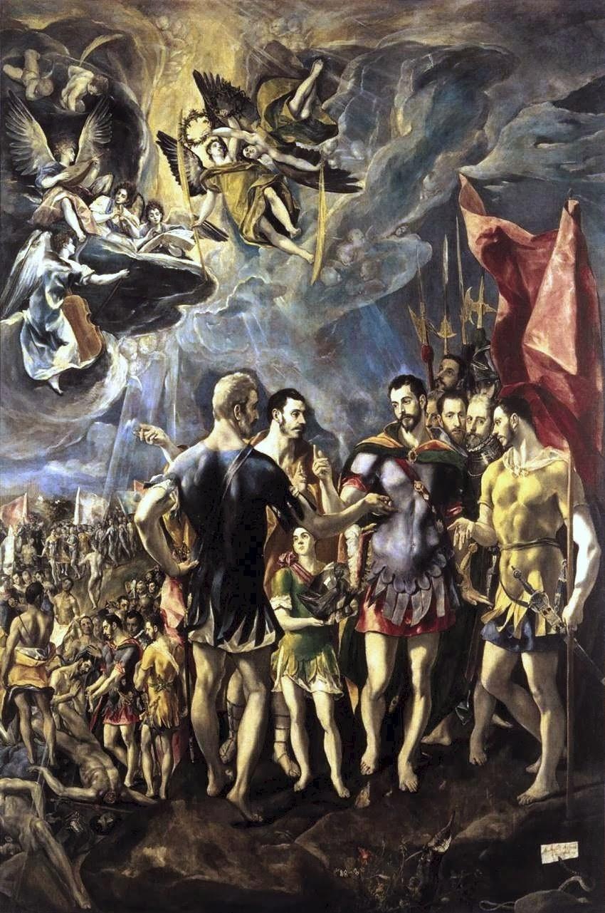 «Το μαρτύριο του Αγ. Μαυρικίου»  Ελ Γκρέκο, 4,5 Χ 3μ