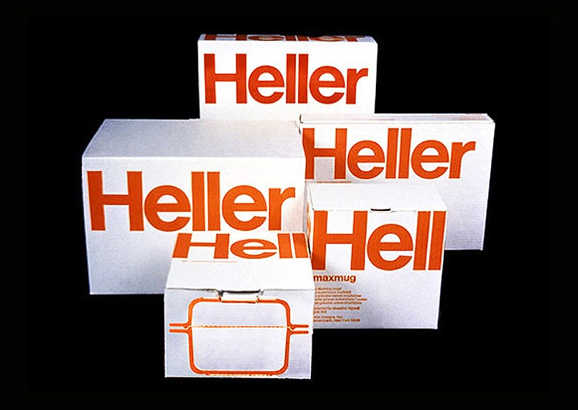heller packaging program by vignelli associates, 1968