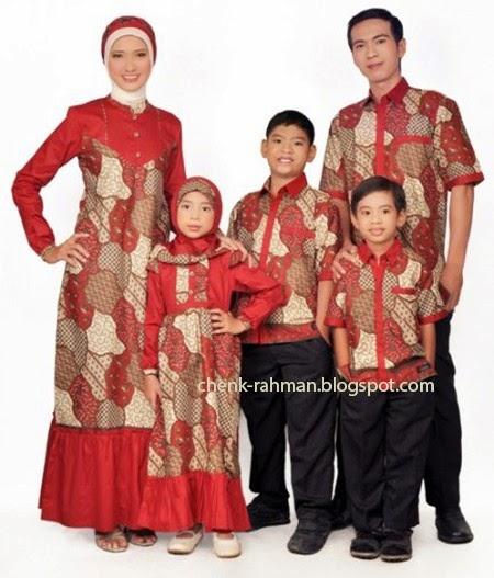 Foto Gambar Model Baju Batik Lebaran Keluarga