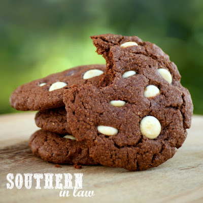 Clean Eating Friendly Chocolate White Chocolate Chip Protein Cookies Recipe  low fat, gluten free, high protein, clean eating friendly, lower sugar, refined sugar free, low carb